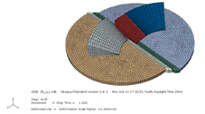 California Memorial Stadium, Abaqus Model