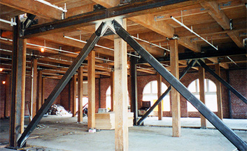 Baker Hamilton. Conversion and rehabilitation of historic URM and wood frame building. Shotcrete walls and steel braced frames added.