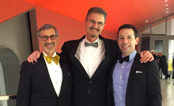Some of the Forell/Elsesser BAMPFA team at the Opening Gala (David Friedman, Mason Walters, Geoff Bomba)